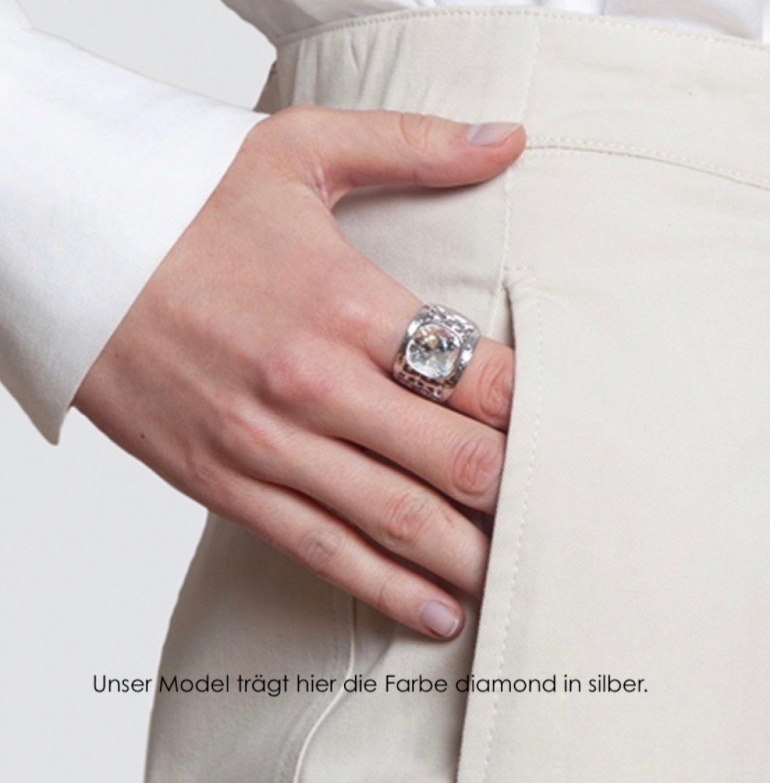 MARIA silber diamond M text klein
